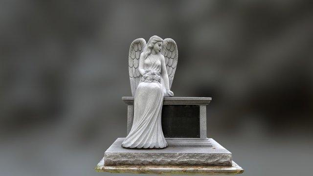 Life Size Angel Sculpture 3D Model