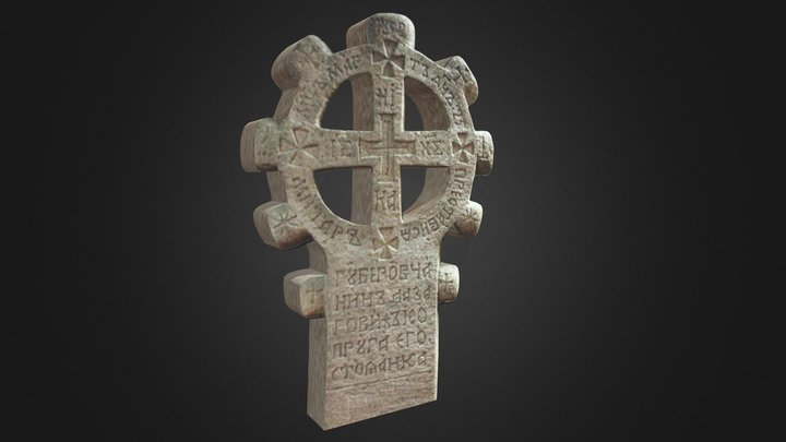Tombstone from South Serbia, 19th century 3D Model