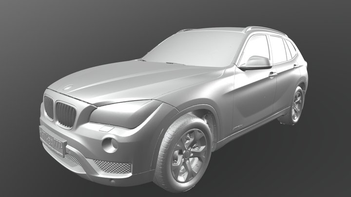 RAW photogrammetry BWM X1 E84 3D Model