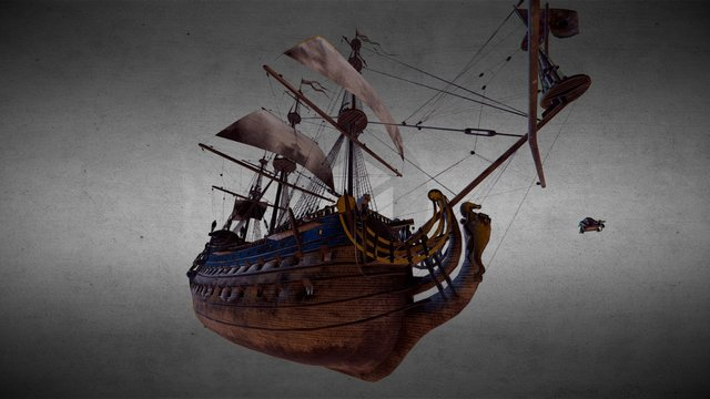 Royal Ship 3D Model