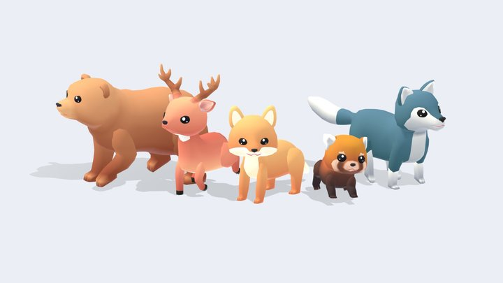 Forest Animals - Wild Series 3D Model