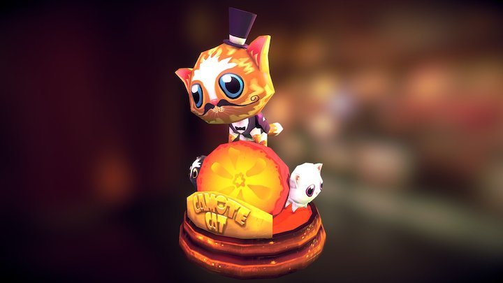 Camote Cat Figurine 3D Model