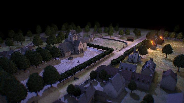 Sainte Mère Eglise -  6th june 1944 3D Model