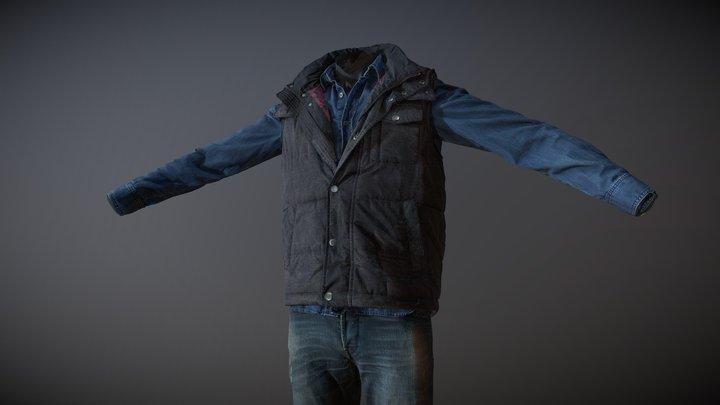 Men's Clothing_02 (3D scan) 3D Model