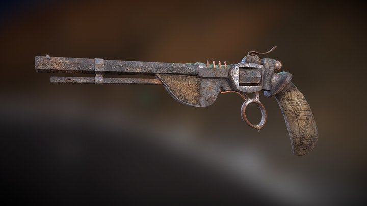 Apocalyptic-Western Weapon 3D Model