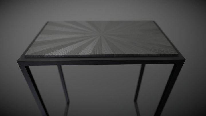 Console_Marqueterie 3D Model