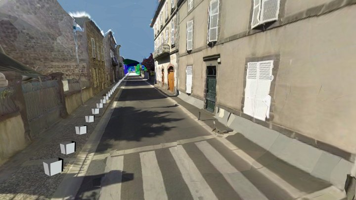 2.5km street, helmet-held 360 camera 3D Model