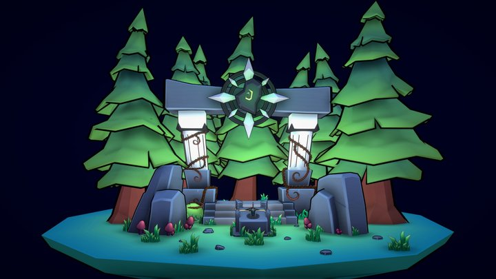 Portal of the forest 3D Model
