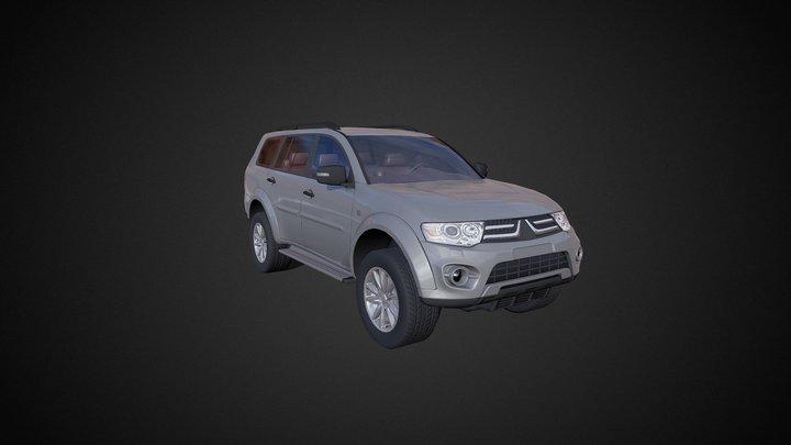 LOW POLY Off-Road 4x4 hatchback #4 3D Model