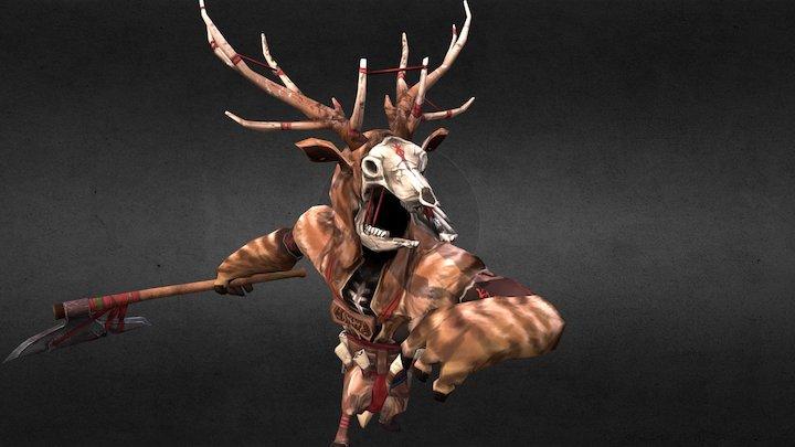 EINHERJAR Fallen Druid 英靈戰士 墮落德魯伊 鹿怪 3D Model