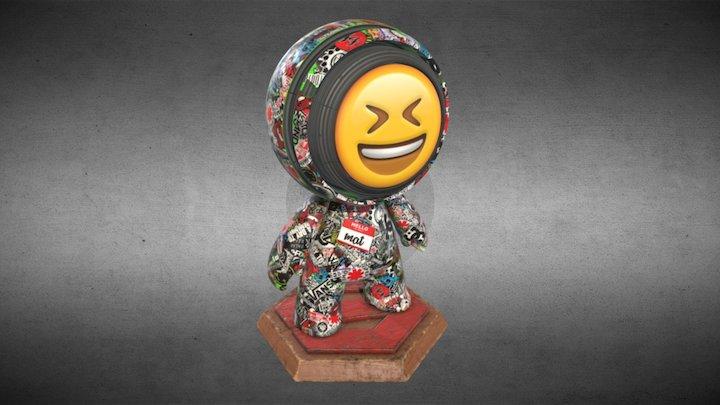 Meet MAT: Sticker Bomb Edition 3D Model