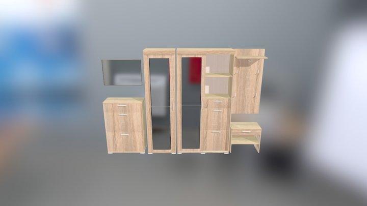 Oskar 8 (dub sonoma) 3D Model