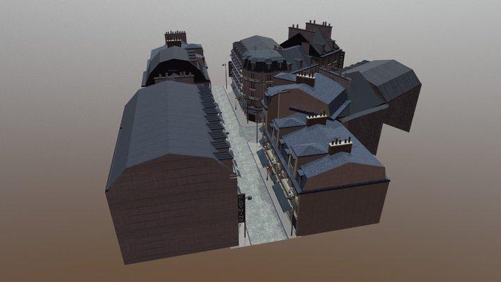 European Street 3D Model