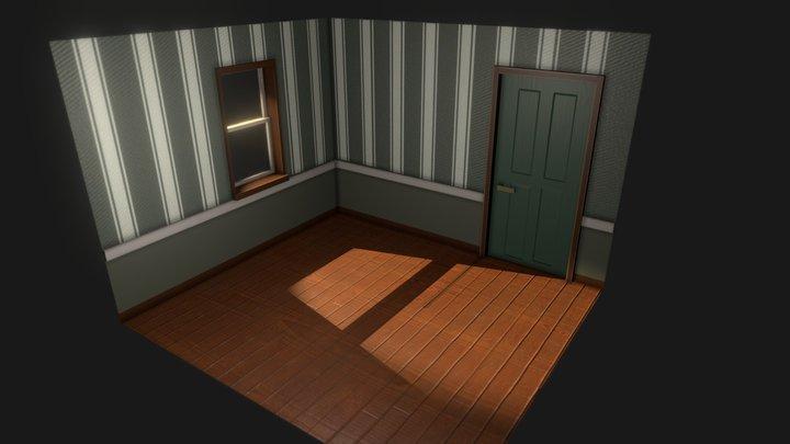 Wall Floor Model Corner Room 3D Model