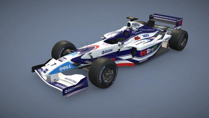 RaceCar RC-10 (Re-imagined model) 3D Model