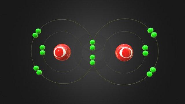 Double Covalent Bond 3D Model