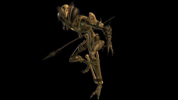 Tribal Mutant Bug 2 3D Model
