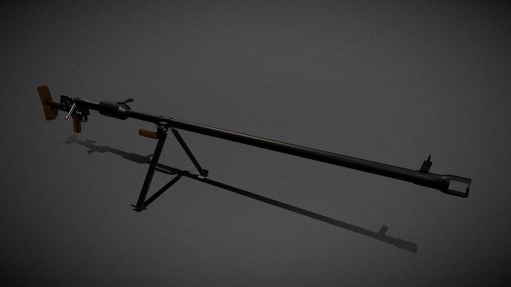 PTRD Anti- Tank Rifle 3D Model