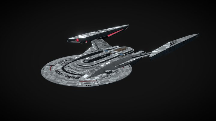 USS Essex NCC-1952 (Star Trek Fan Design Ship) 3D Model