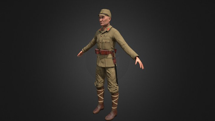 Japanese Soldier 3D Model