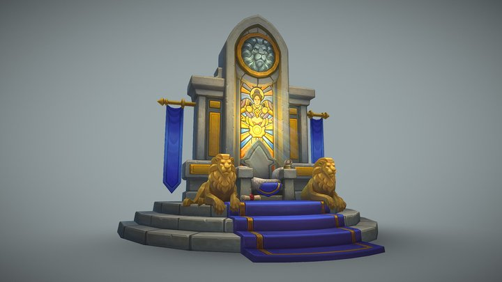 Throne of Stormwind 3D Model