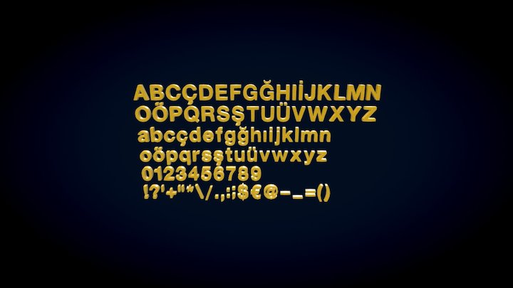 MS Helvetica 3D Alphabet 3D Model