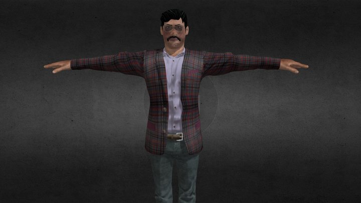 Dashing Male 3d Model 3D Model