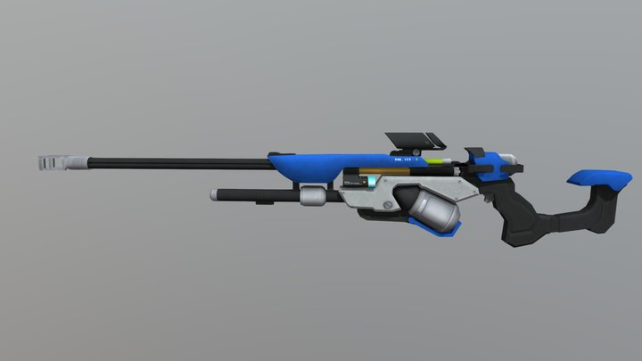 Ana Weapon Overwatch 3D Model