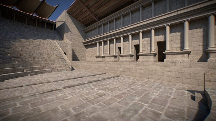 Libarna - Teatro 3D Model
