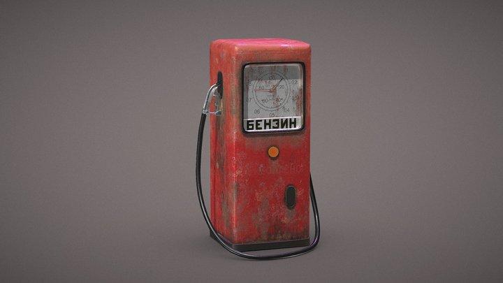 Gas Station low - USSR 3D Model