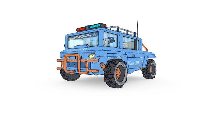 Car - police car (concept) 3D Model