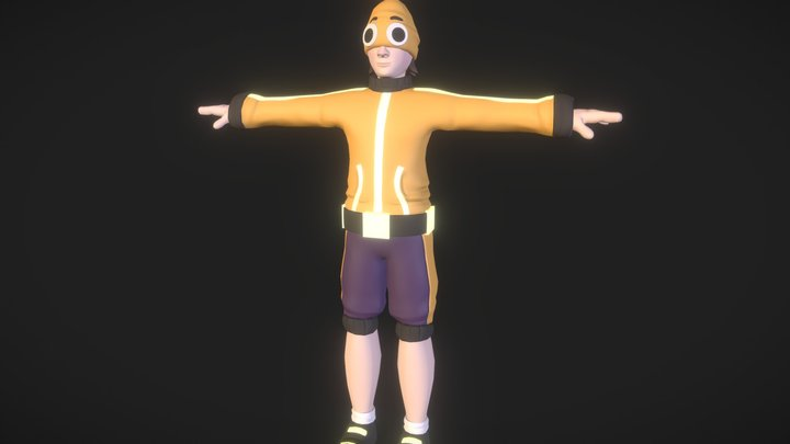 """Sock"" Game Character 3D Model"