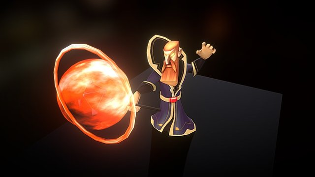 Fire Wizard 3D Model