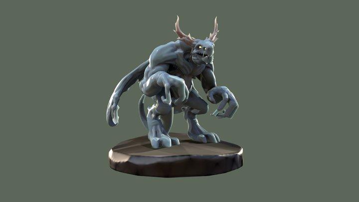 DRAGON GUY - quick Medium model 3D Model
