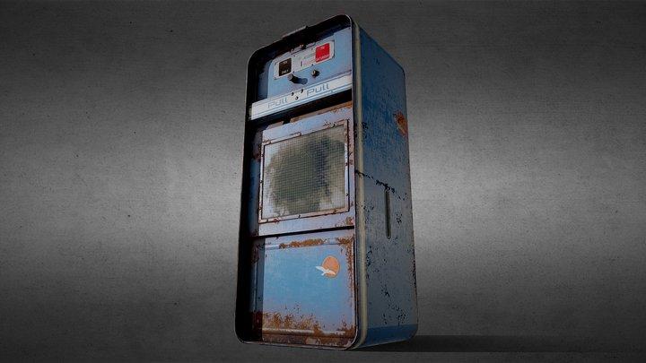 Rusty Old Newspaper Vending Machine 3D Model
