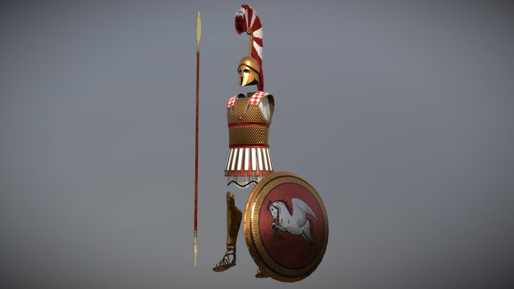 Ancient Greek Armor 2 3D Model