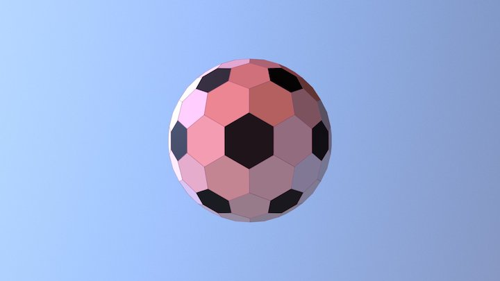 UK Government Standard Hex Football 3D Model