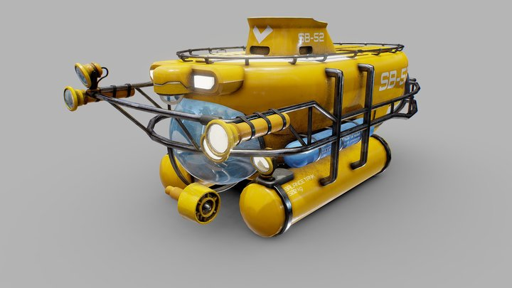 The Abyss Submarine 3D Model