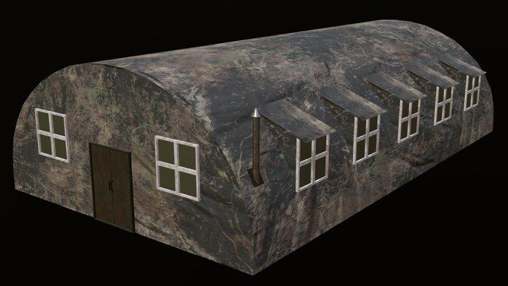 Army Barracks 3D Model