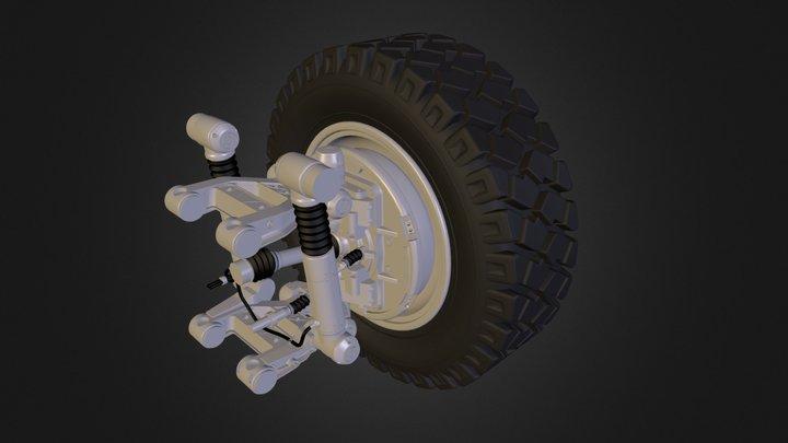Wheel suspension 3D Model