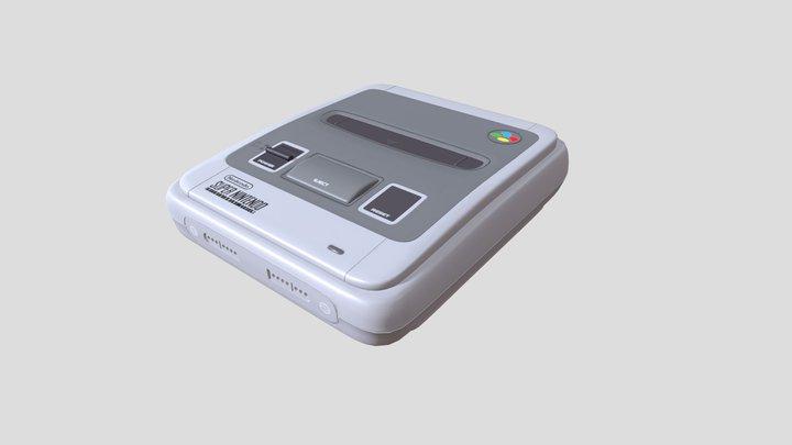 Super Nintendo Entertainment System 3D Model