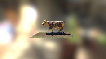 ECU Pirates Cow 3D Model