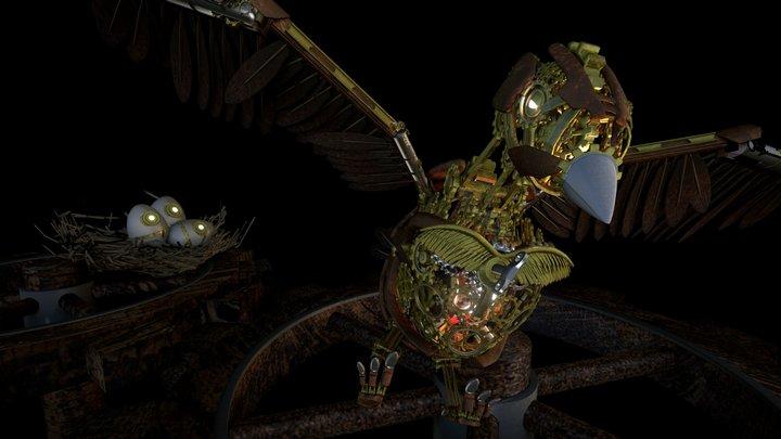 ClockBird v2 3D Model