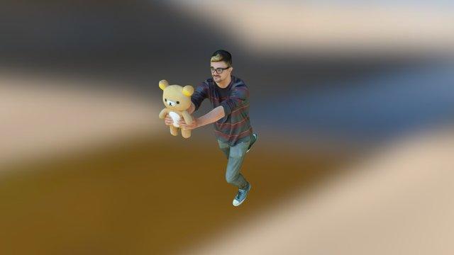 Teddy Bear Man (Cleaned) 3D Model