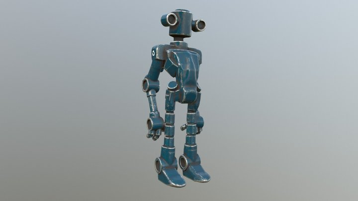 Recycle Bot - Blue Sector 3D Model