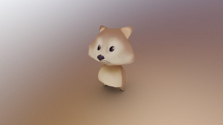first ever 3D character 3D Model