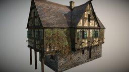 Medieval Village House 2 3D Model