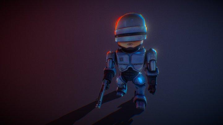 Cartoony RoboCop 3D Model