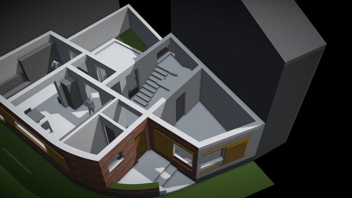 Papadiei 7 _ 23.05.2019 _ plan parter 3D Model