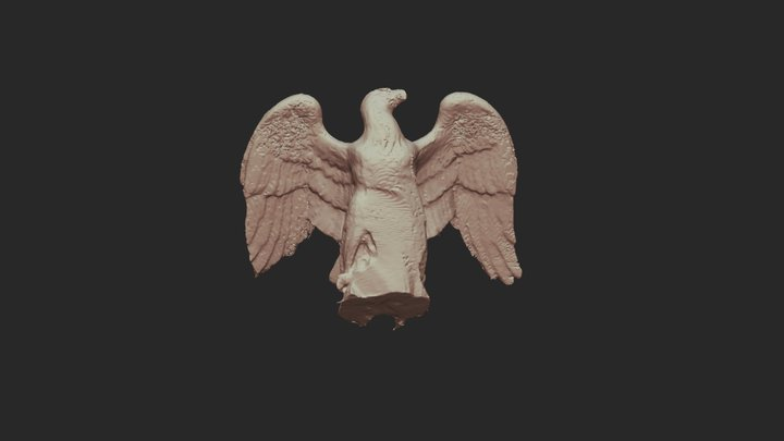 Eagle from the Phillips Brooks Monument 3D Model